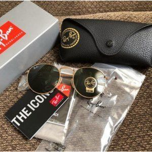 New Authentic Rayban Rb3447 Round Metal